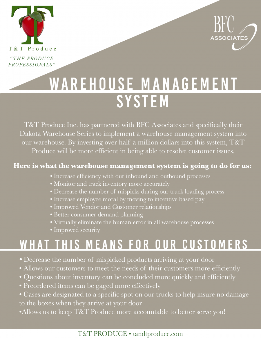 New Warehouse Management System