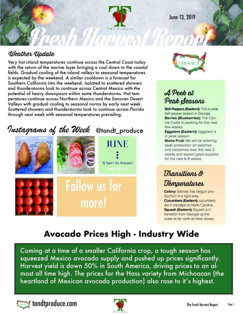 6/13/19 Fresh Harvest Report
